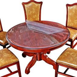 Clear Round Table Top Protector Circle Dining Tablecloth Pro
