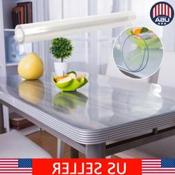 2mm Waterproof PVC Clear Tablecloth Transparent Table Cover