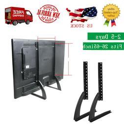 "2pcs Tabletop Universal TV Stand Base Fits 22""-65"" Pedesta"