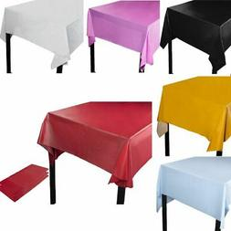3 pack plastic rectangular tablecloth table cover