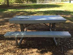 3 pcs of Picnic / Camping Vinyl cover for Table & Bench...co