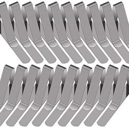 PAXCOO 30 Packs Tablecloth Clips Stainless Steel Table Cover