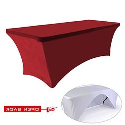 ABCCANOPY 30+colors Table cloth 6 ft. Fitted Polyester Table