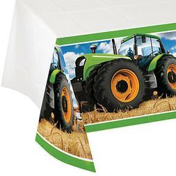 Creative Converting 318056 Border Print Plastic Tablecover,