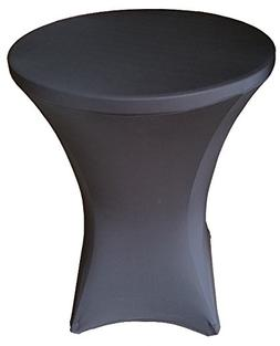 """32 Round x 43"""" Tall Spandex Fitted Table Cover for Folding B"""