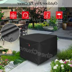 """32"""" Square Gas Fire Pit / Table Cover 210D Fabric Coating Pa"""