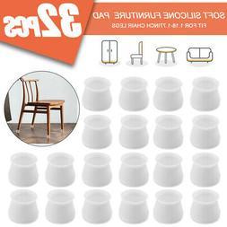 32pcs Silicone Chair Furniture Leg Feet Cap Protection Table