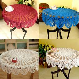 36inch Cotton Handmde Crochet Tablecloth Round Lace Home Din