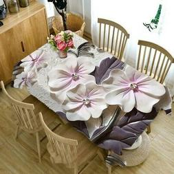 3D Flower Tablecloth Rectangular Tea Table Cover Kitchen Din
