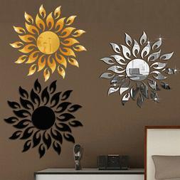 3D Mirror Sun Art Removable Wall Sticker Acrylic Mural Decal