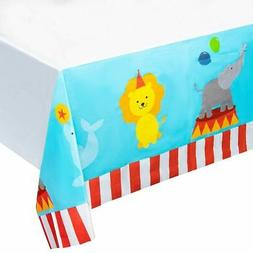 "3pcs 54"" x 108"" Disposable Plastic Table Covers Circus Theme"