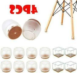 4 Pcs Silicone Table Cover Chair Leg Caps Furniture Feet Pad