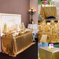 "40x60"" Sparkly Sequin Tablecloth Rectangle Wedding Table Cov"