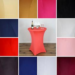"""42"""" tall Fitted Spandex Cocktail Tablecloth Stretch Table Co"""