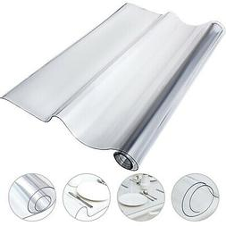 """PVC Tablecloth Protector Table Cover 46"""" X 96"""" Water Resista"""