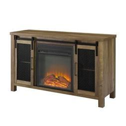 48 inch Rustic Farmhouse Fireplace TV Stand  - Reclaimed Bar