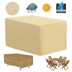 48'' Rectangular Patio Table Cover Garden Outdoor Furniture