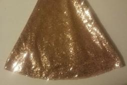 "48"" Round Sparkle Sequin Tablecloth Cover For Wedding Party"