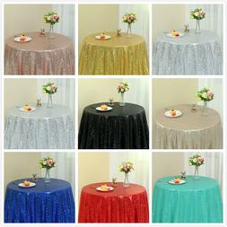 48inch Round Sequin Glitter Tablecloth Sparkly Wedding Table