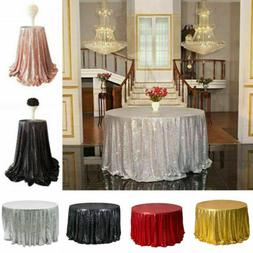 4Colors Round Glitter Sequin Tablecloth Table Cover Wedding