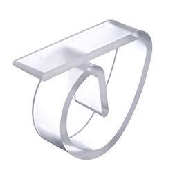 4pcs/lot <font><b>Clear</b></font> Plastic Tablecloth Clips