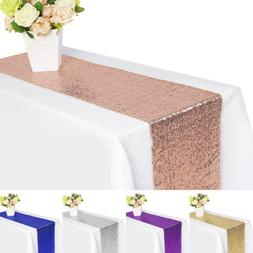 5/10/20x Sequin Table Runner Sparkly Table Cover Cloth Weddi