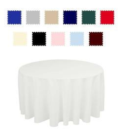 5 pack 108 inch Round Wedding Polyester table cover wedding