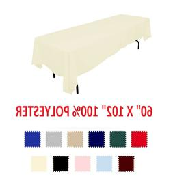 """5 pack 90"""" x 132"""" inch Rectangular Wedding Polyester table c"""