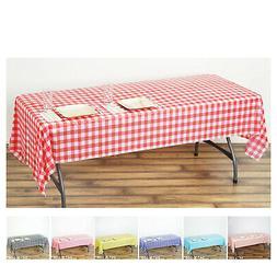 5 Pcs Gorgeous Checkered Rectangle Disposable Plastic Table