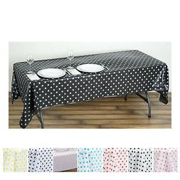5 Pcs Perky Polka Dots Rectangle Disposable Plastic Table Co
