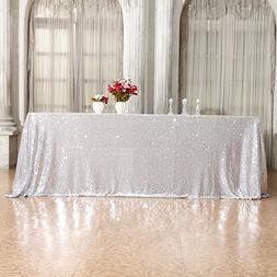3e Home 50×80'' Rectangle Sequin TableCloth for Party Cake