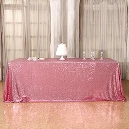 3e Home 50×72'' Rectangle Sequin TableCloth for Party Cake