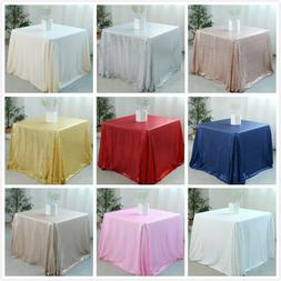 "50""x50"" Sequin Tablecloth Shiny Table Cover for Wedding Part"