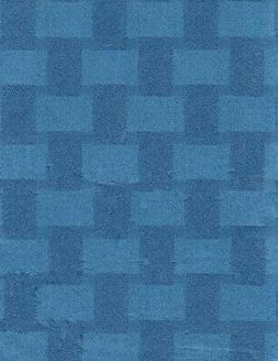 52 x 90 Tablecloth Vinyl Flannel Backed Blue Block Design Ta