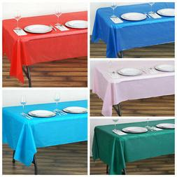 """54 x 108"""" Disposable Plastic Rectangular Table Cover Tablecl"""