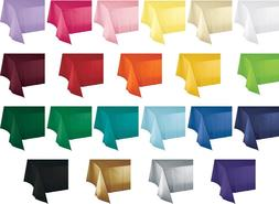 """54"""" x 108"""" Plastic Table Covers - Heavy Duty Disposable Tabl"""