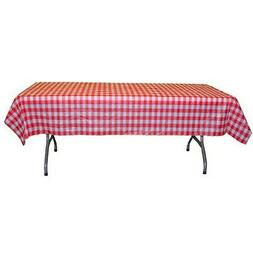 """54"""" X 108""""  Red gingham plastic table covers-12 pack"""