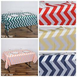 "54 x 72"" Chevron Disposable Plastic Rectangular Table Cover"