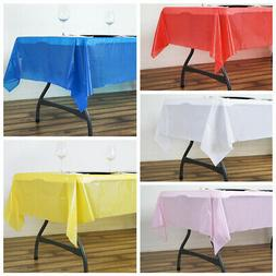 """54 x 72"""" Disposable Plastic Rectangular TABLE COVER Tableclo"""