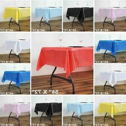 54x72 inch Disposable PLASTIC TABLE COVER Tablecloth Birthda