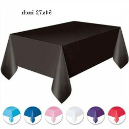 "54x72"" Solid Color Disposable Heavy Duty Plastic Tablecloths"
