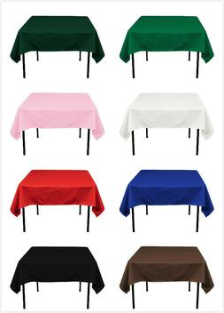 55''x55'' Square Polyester Tablecloth Table Cover for Weddin