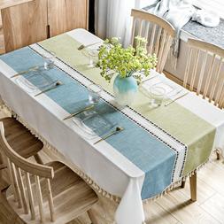 """55""""x78"""" Decorative Table Cloth Cotton Linen Table Kitchen Di"""