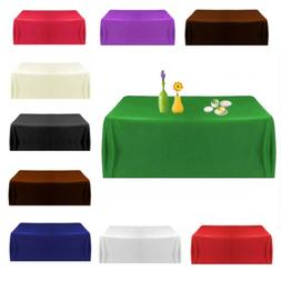 57''Satin Tablecloth Table Covers for Wedding Party Restaura