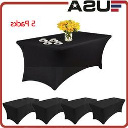5X Rectangular Tablecloth Spandex Fitted Stretch Table Cover