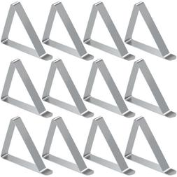6/12 Packs Stainless Steel Tablecloth Clip,Tablecloth Holder