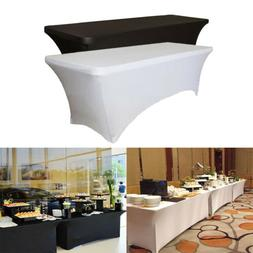 6 8 ft Spandex Fitted Stretch Tablecloths Table Cover Weddin