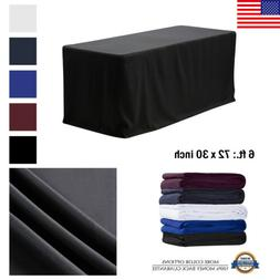 6' ft. Fitted Polyester Tablecloth Table Cover Wedding Banqu
