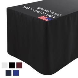 6 Ft Fitted Tablecloth Rectangular Table Cover for Wedding P