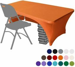 6 ft Kitchen Spandex Stretch Tablecloth Table Cover Table To
